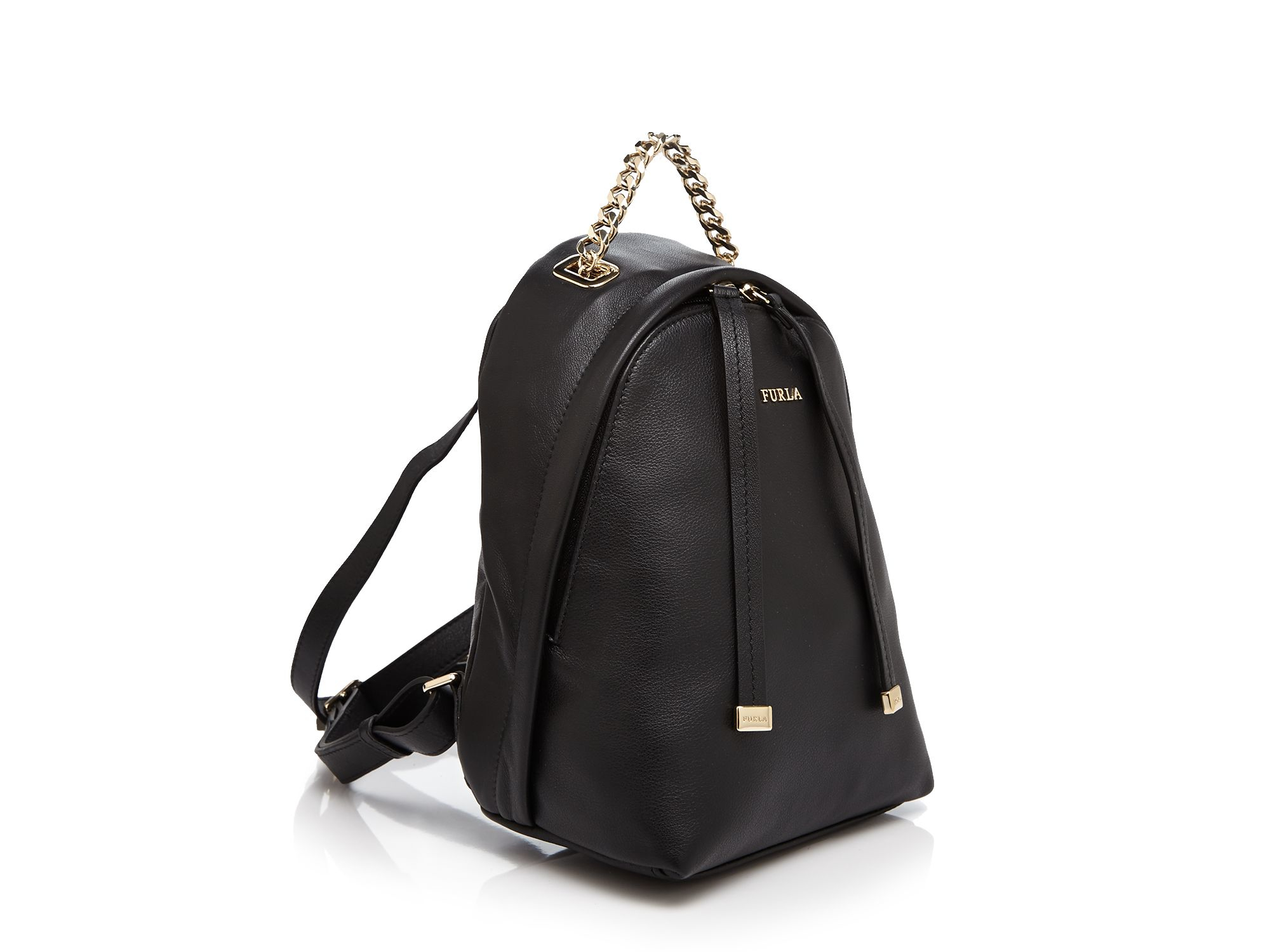 7672f64c4dcc Furla Black Spy Mini Backpack