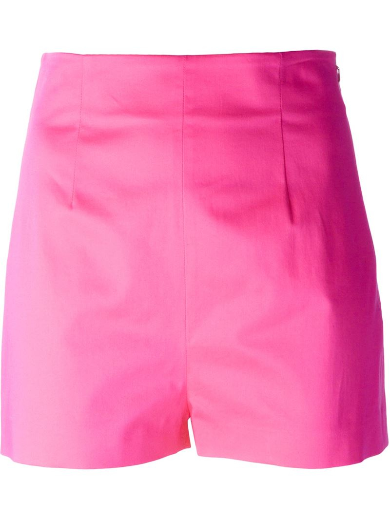 Moschino High-Waisted Shorts in Pink | Lyst