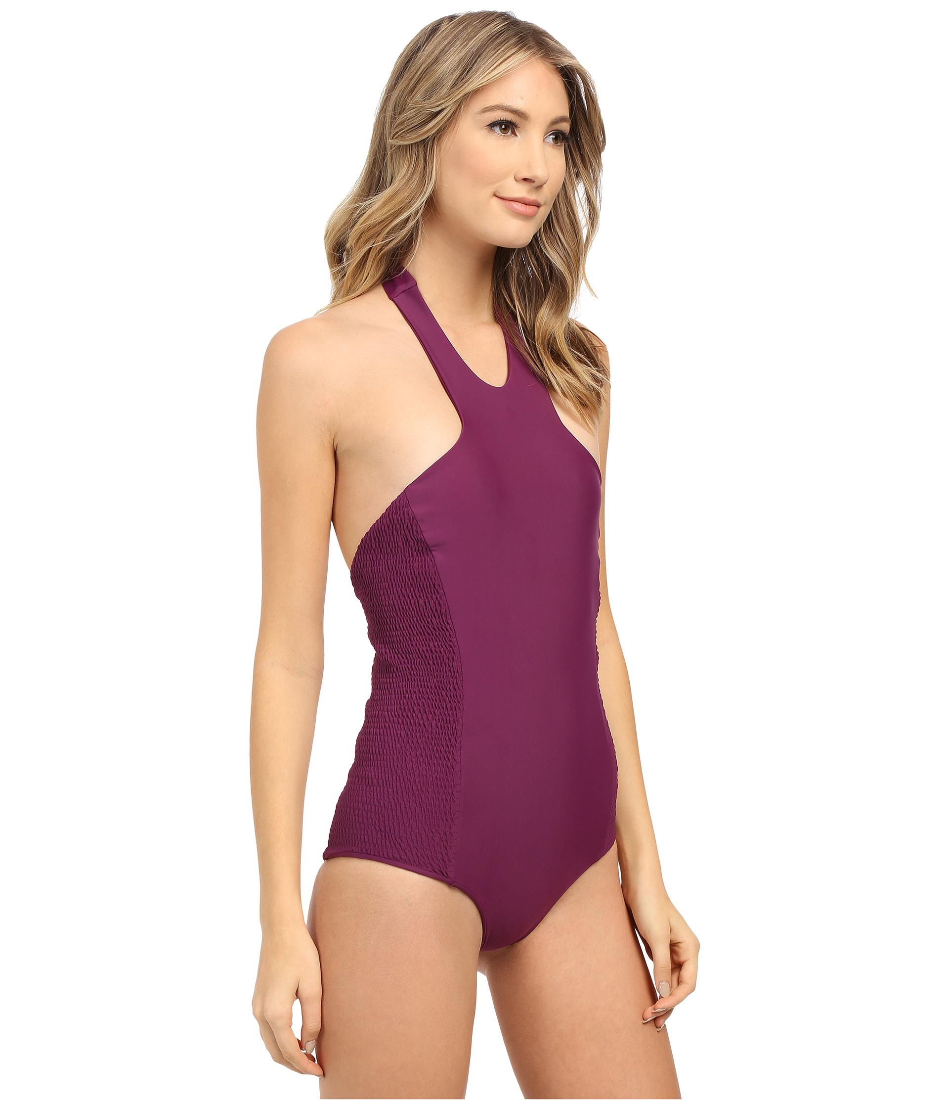 568043929a31f8 Lyst - Tori Praver Swimwear Rosarito Full Coverage in Purple