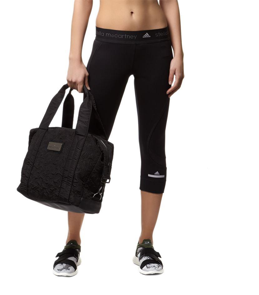 60e4ae95fe82 adidas By Stella McCartney Small Gym Bag in Black - Lyst