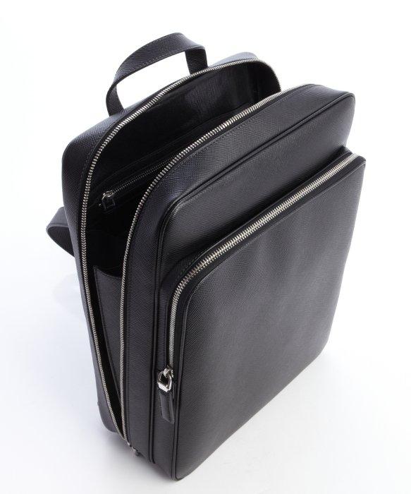 Prada Black Saffiano Squared Backpack in Black for Men   Lyst