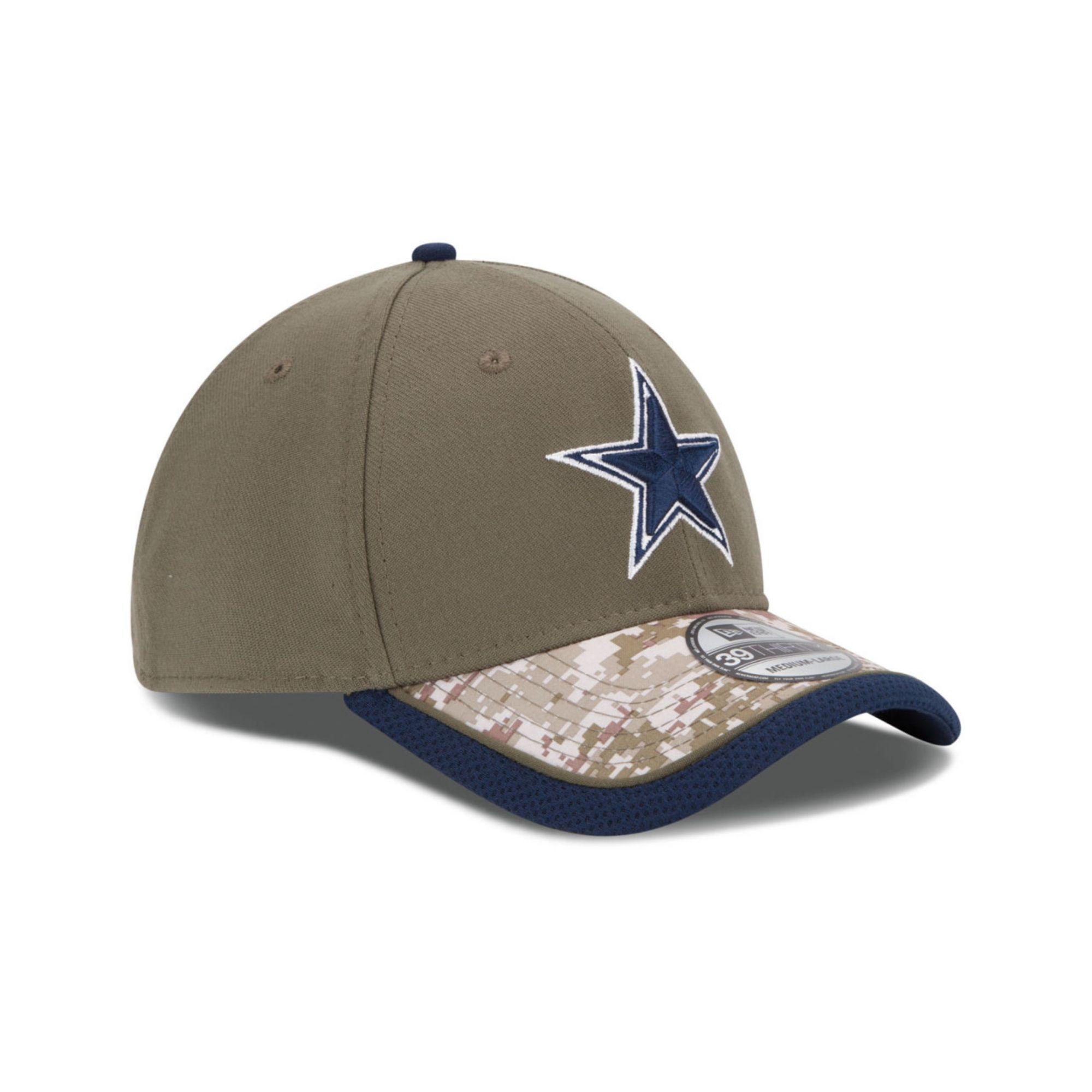 Lyst - KTZ Dallas Cowboys Salute To Service 39thirty Cap in Green ... df6743e8235