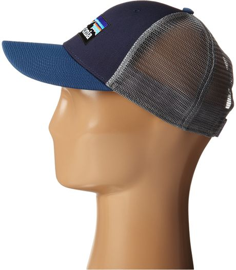 patagonia p6 lopro trucker hat in blue navy blue lyst