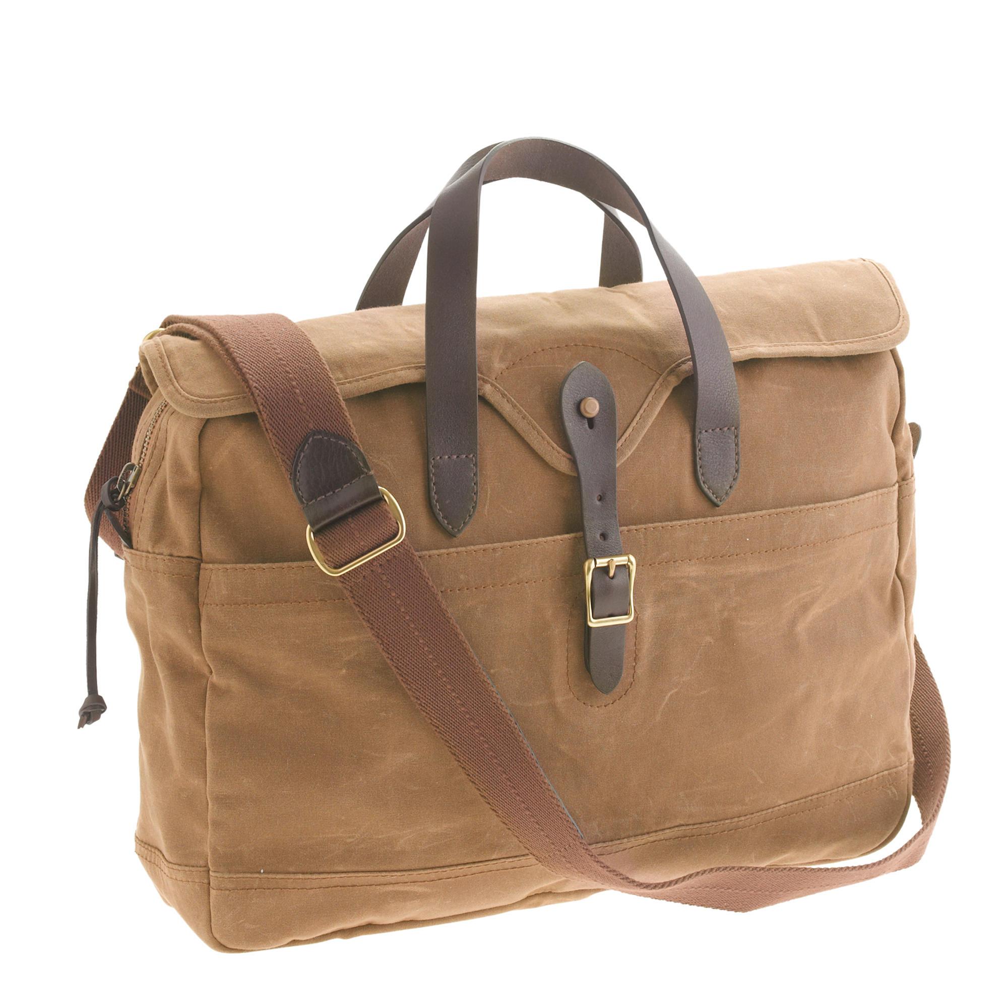 J Crew Abingdon Laptop Bag In Natural For Men Lyst