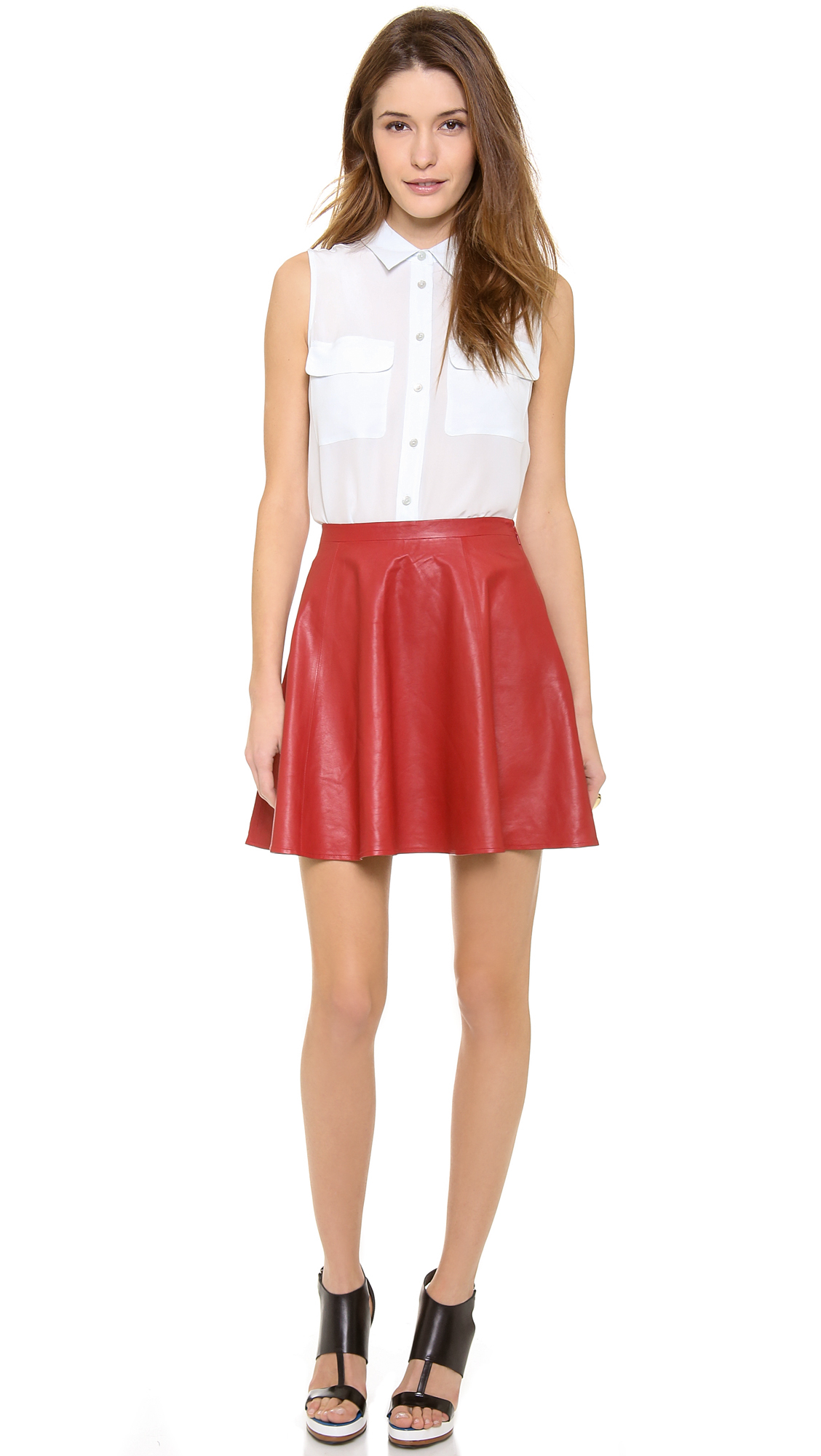 Lovers   friends Lovers Friends Monica Rose Charlie Leather Skirt ...