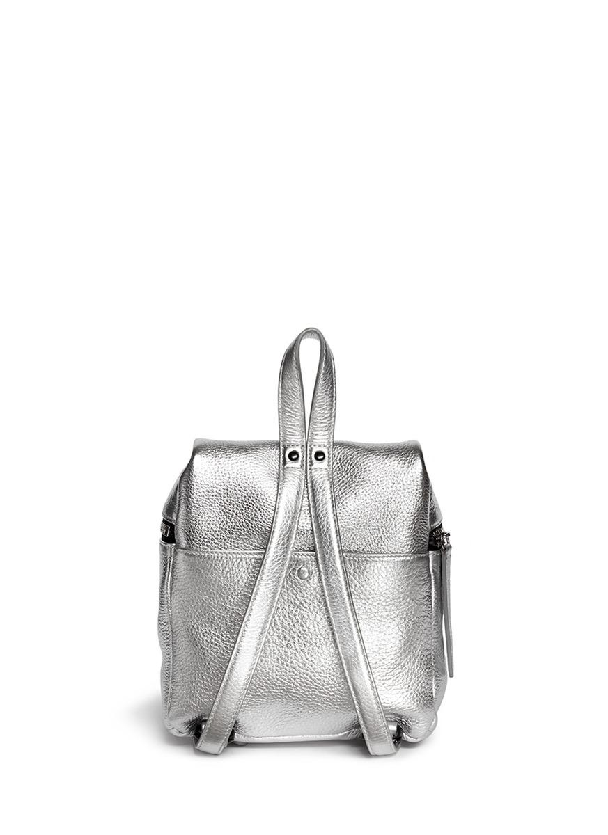 Kara Metallic Small Leather Backpack - Lyst