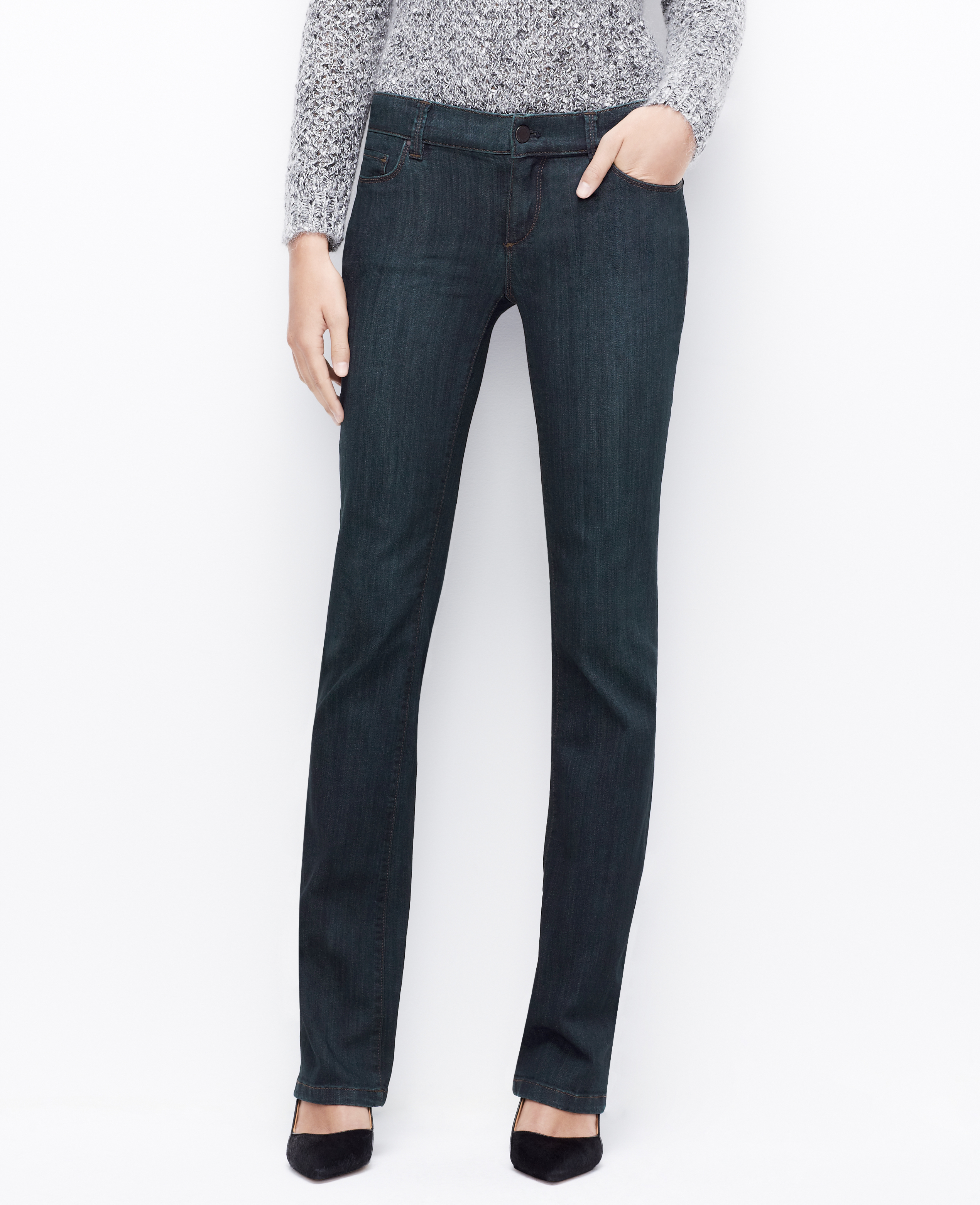 Ann taylor Modern Boot Cut Jeans in Blue | Lyst