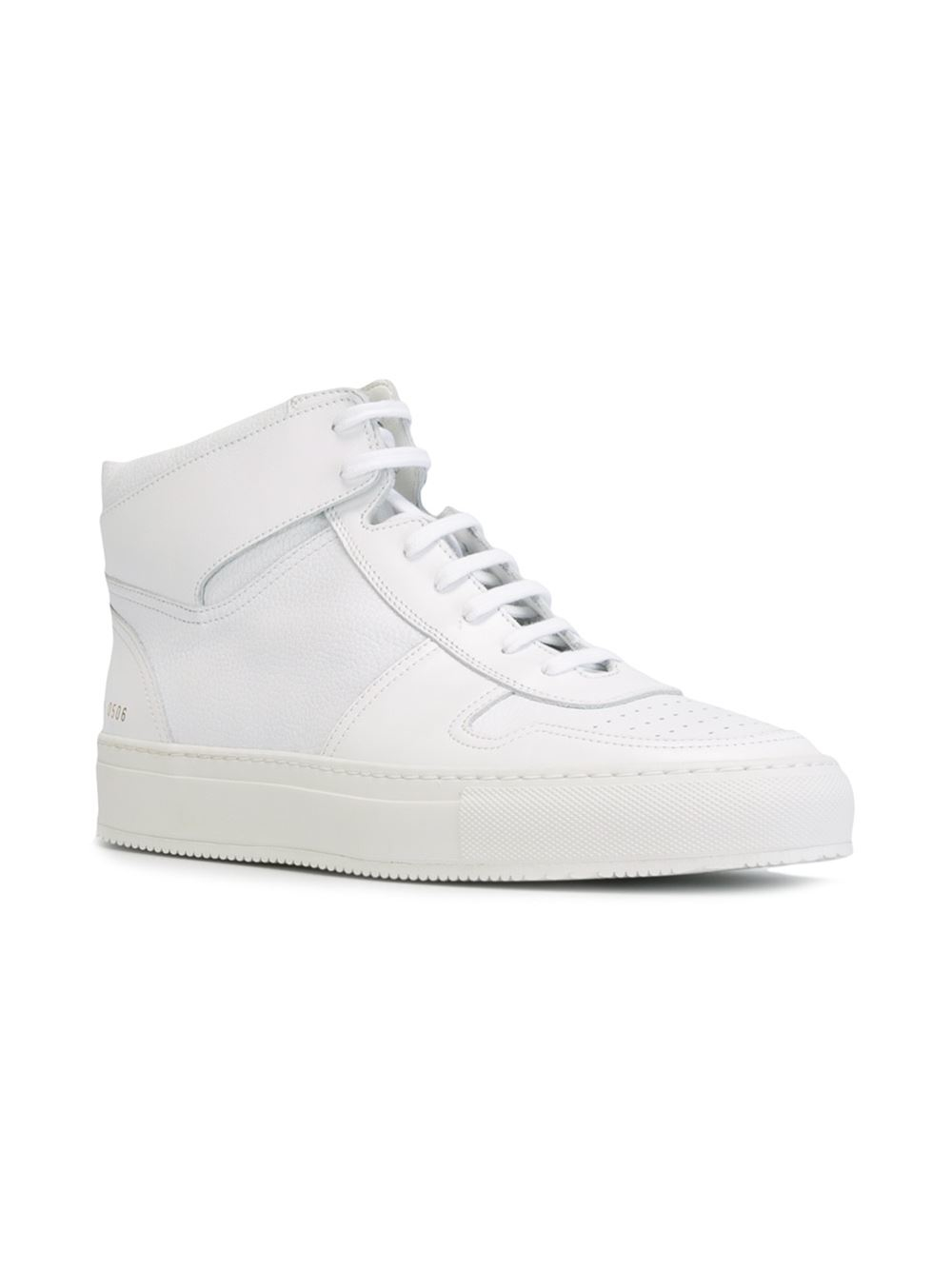 common projects hi top sneakers in white for men lyst. Black Bedroom Furniture Sets. Home Design Ideas