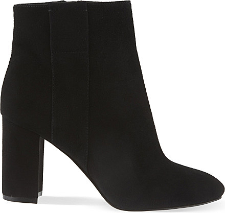 Nine West Whynot Suede Ankle Boots in Black - Lyst eca7ed6871