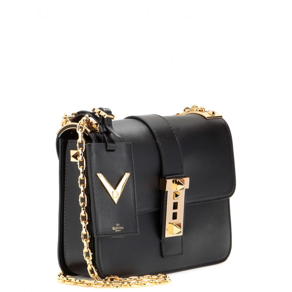 Lyst Valentino B Rockstud Leather Shoulder Bag In Black