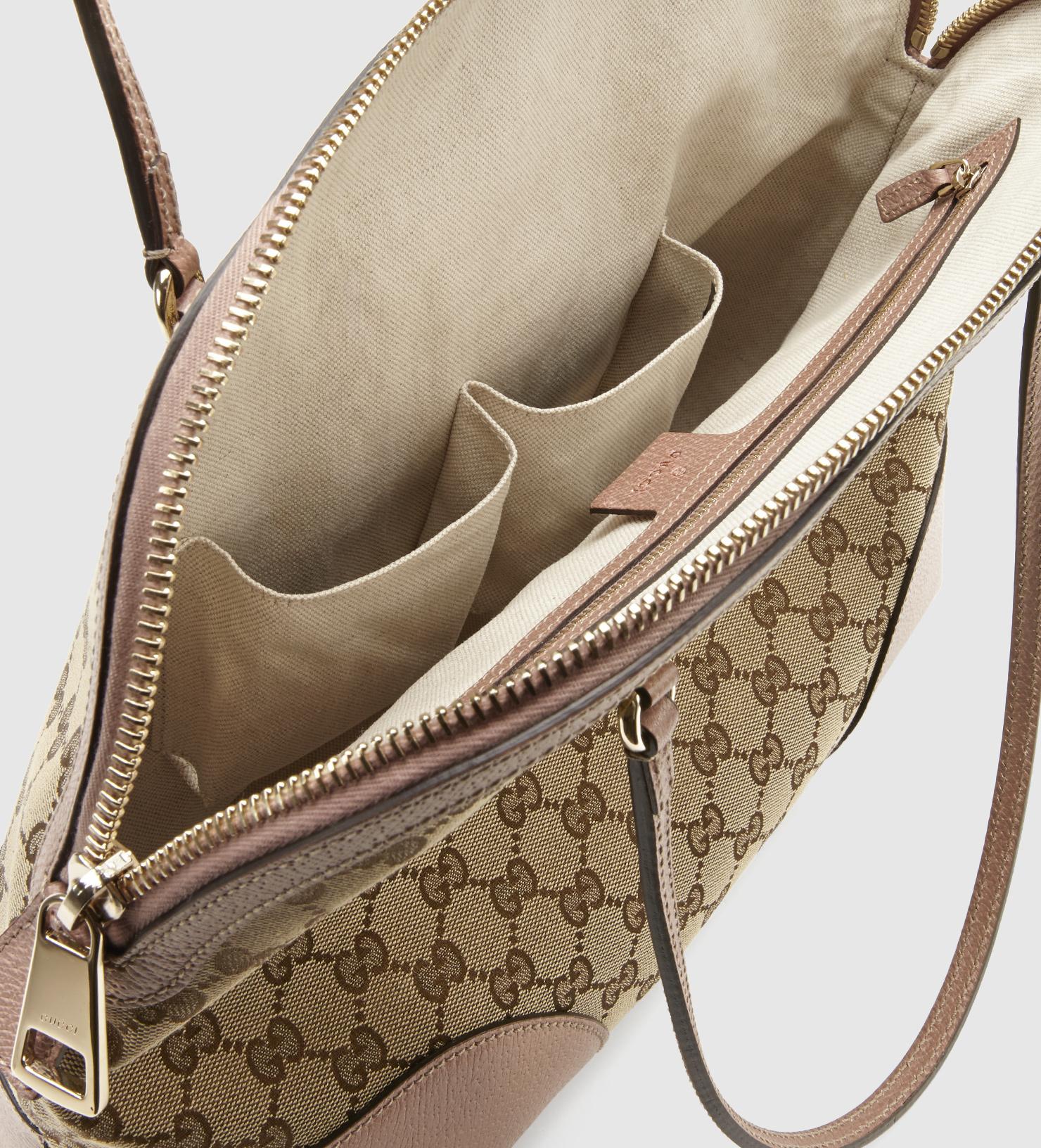 6413bfcb72646f Gucci Bree Original Gg Canvas Shoulder Bag in Natural - Lyst