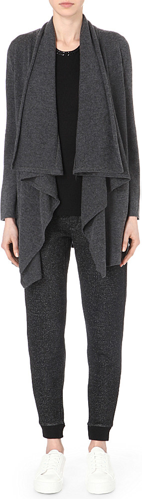 The kooples sport Waterfall Wool And Cashmere-blend Cardigan in ...