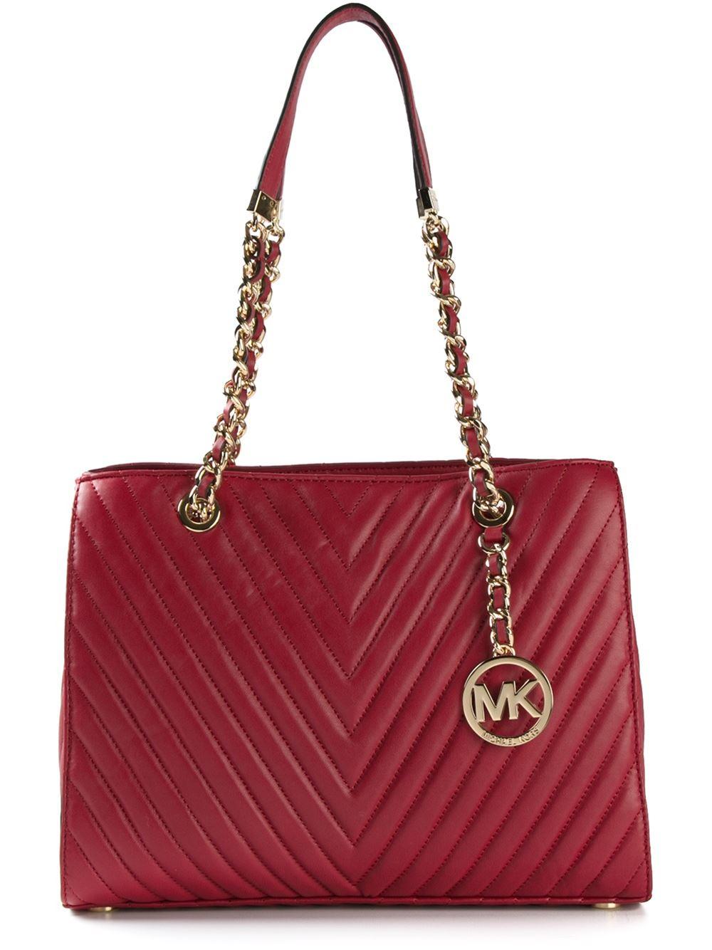 Michael Michael Kors Susannah Quilted Shoulder Bag In