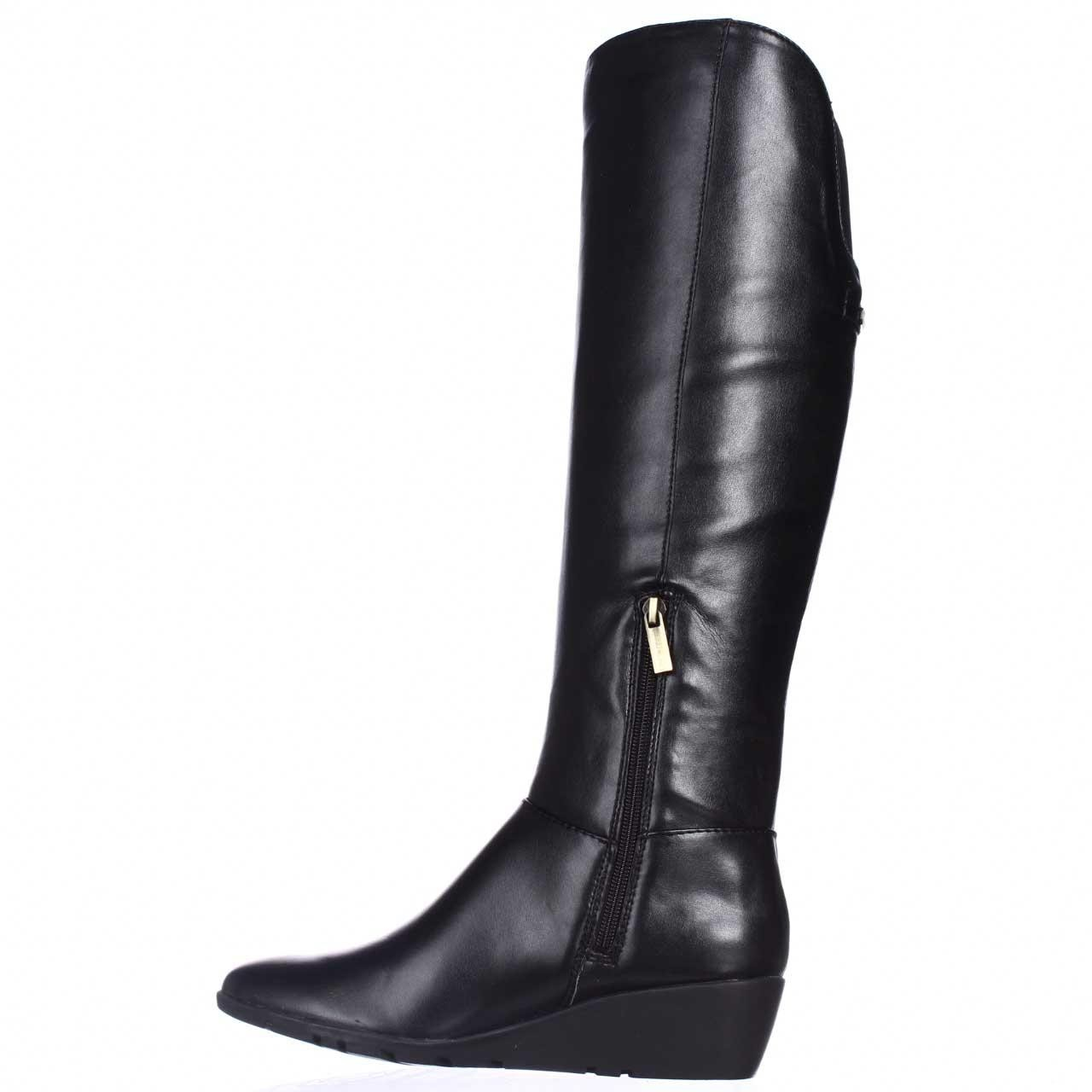 bandolino aliba wedge dress boots in black lyst