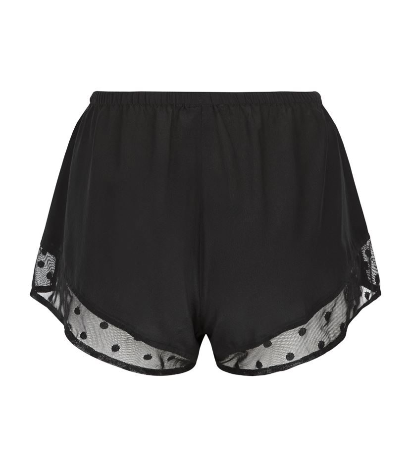 ef599510a6f5 Princesse Tam-Tam Doris Silk Pyjama Shorts in Black - Lyst