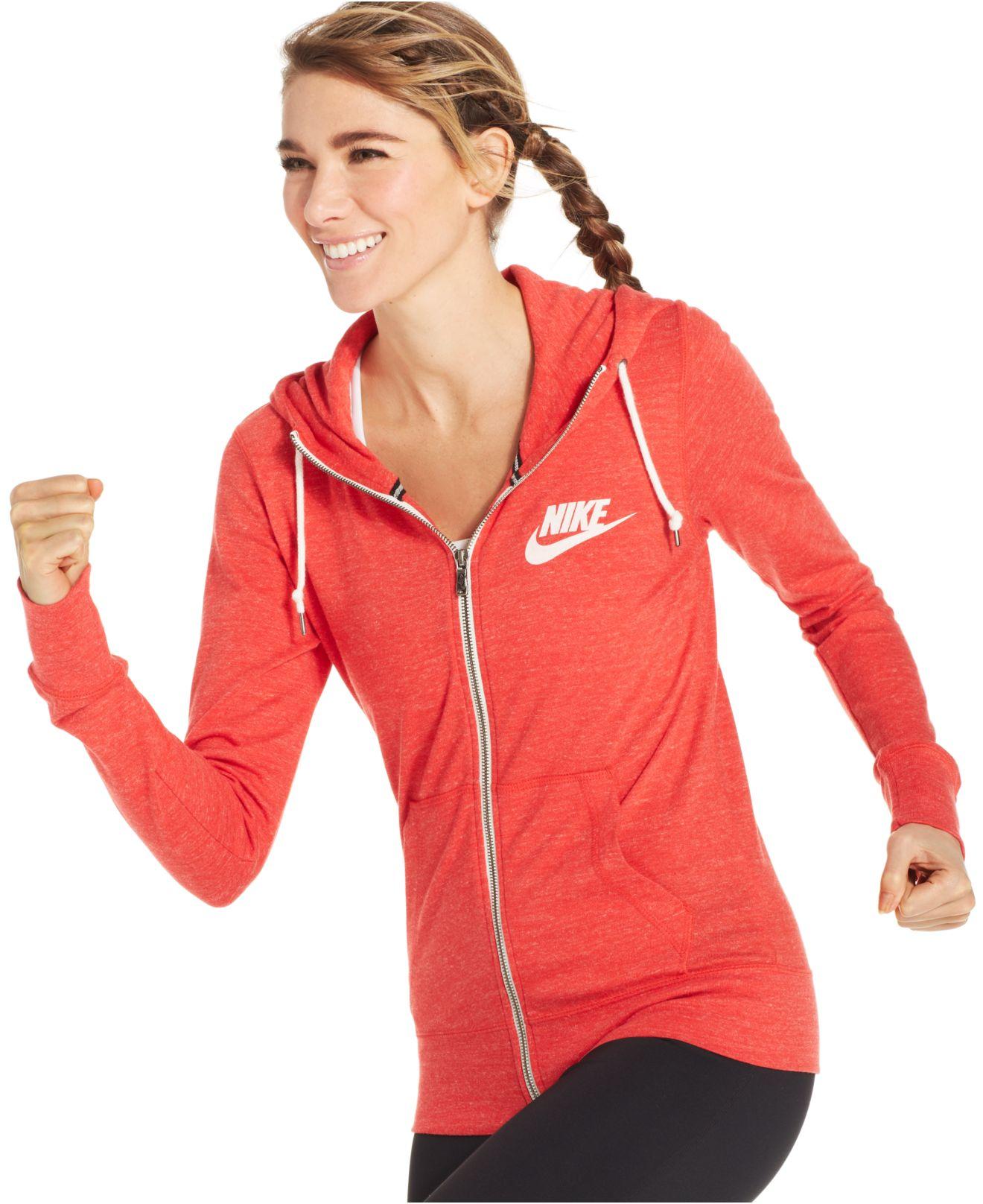 Nike Long Sleeve Gym Vintage Hoodie In Red Lyst