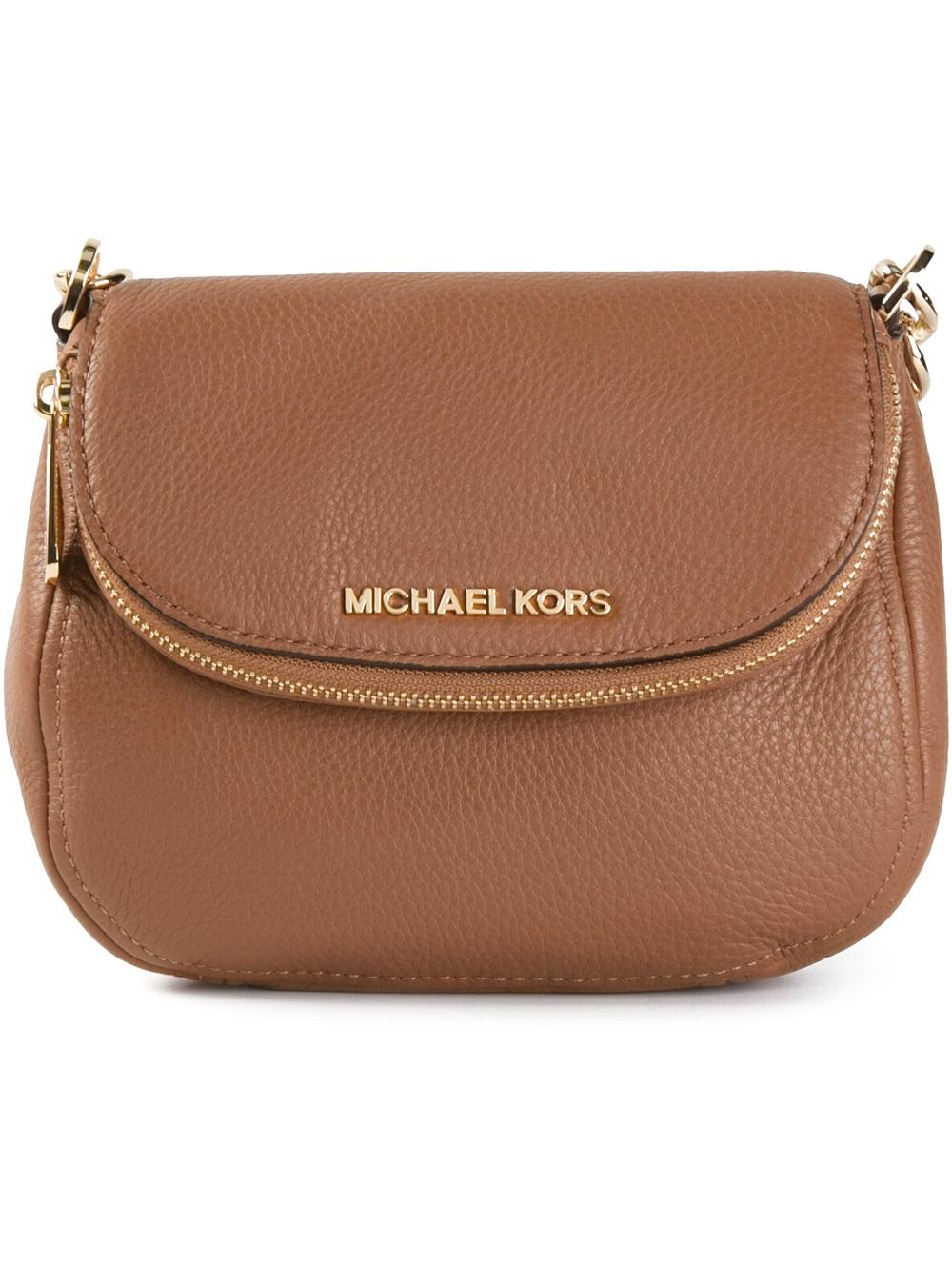 Lyst Michael Michael Kors Bedford Leather Cross Body Bag