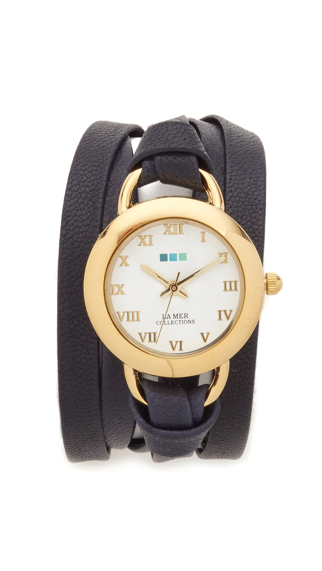 la mer collections leather wrap in blue lyst