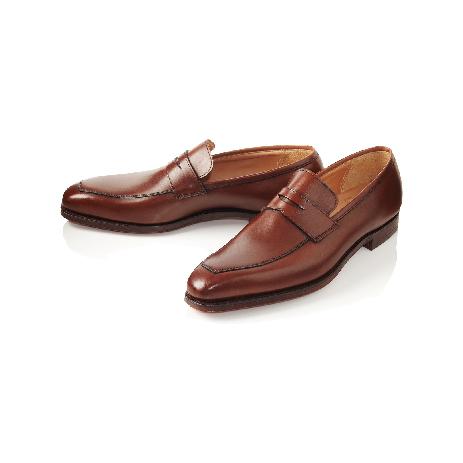 John Lobb Shoes >> Lyst - Crockett And Jones Merton Apron Loafer in Brown for Men