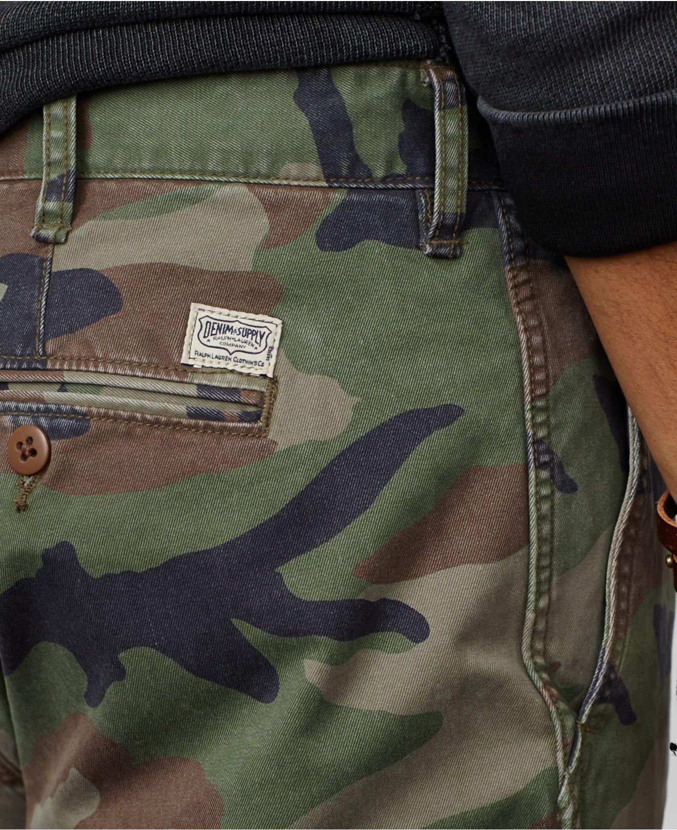 Denim   Supply Ralph Lauren - Green Camo Military Chino Pants for Men - Lyst 30a32d82e269d