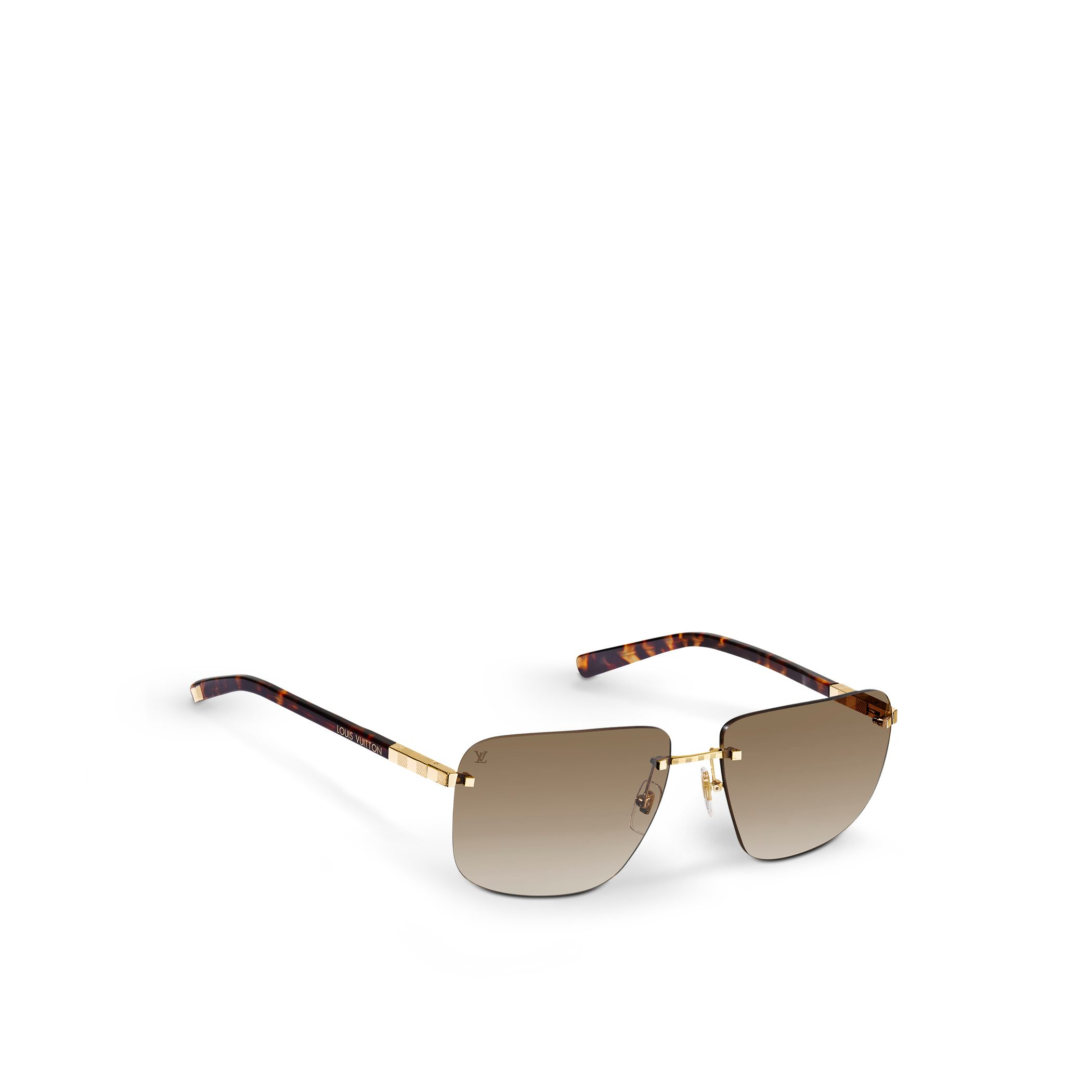 Frameless Glasses For Oval Face : Louis vuitton Attraction Rimless Mm in Metallic for Men Lyst