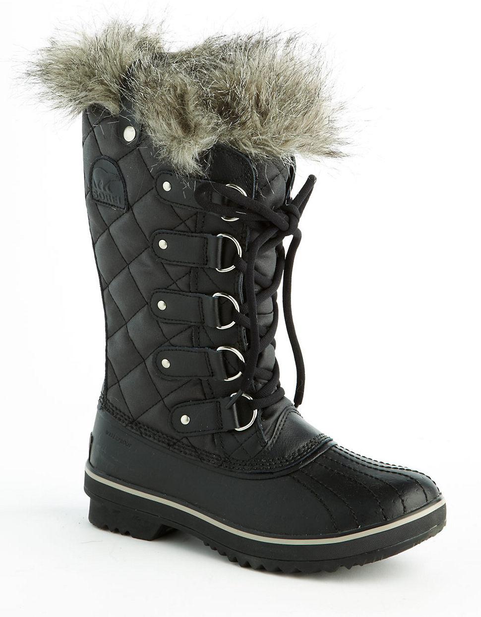 Sorel Tofino Fur Lined Boots In Black Lyst