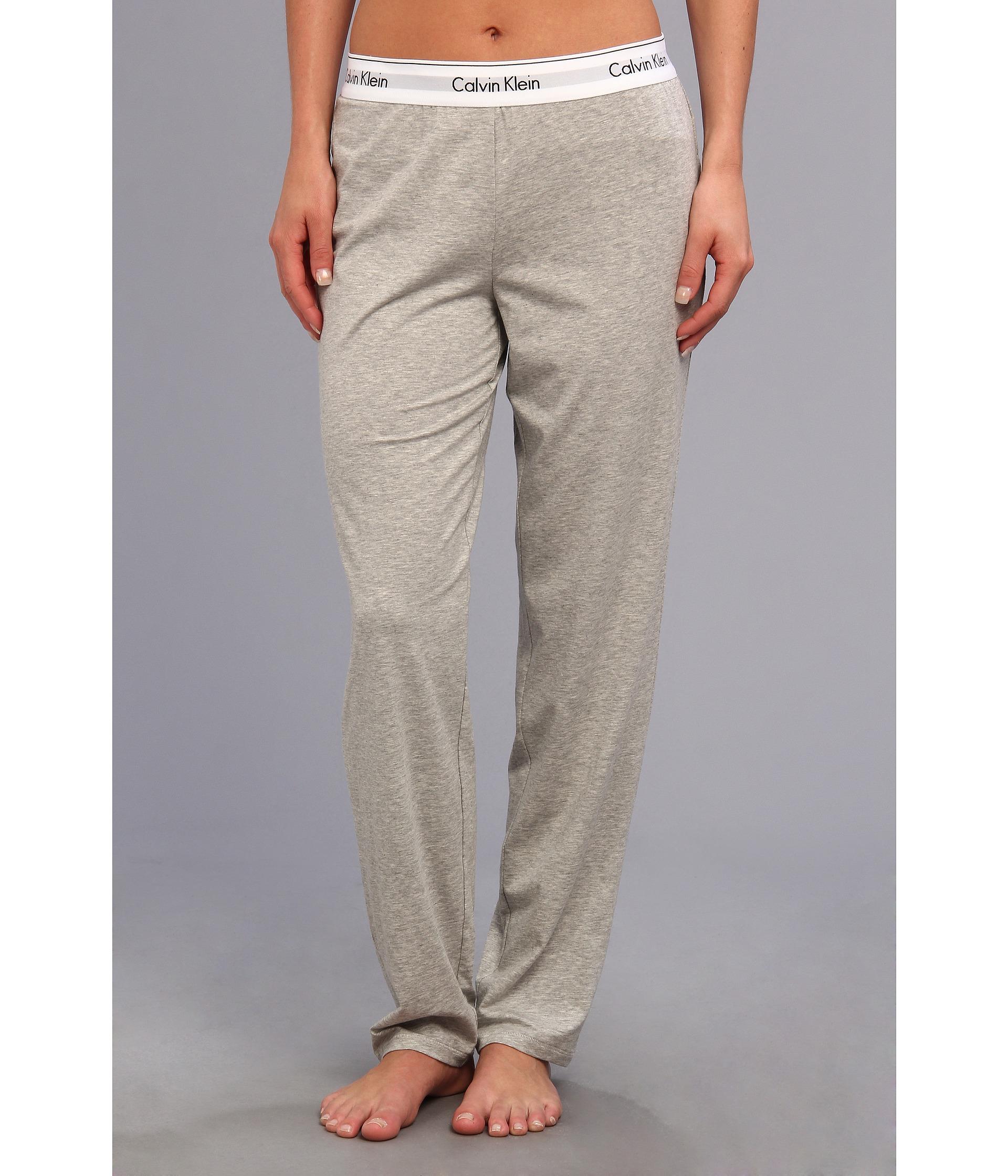 23ac4c37f331 Lyst - Calvin Klein Modern Cotton Lounge Pant in Gray