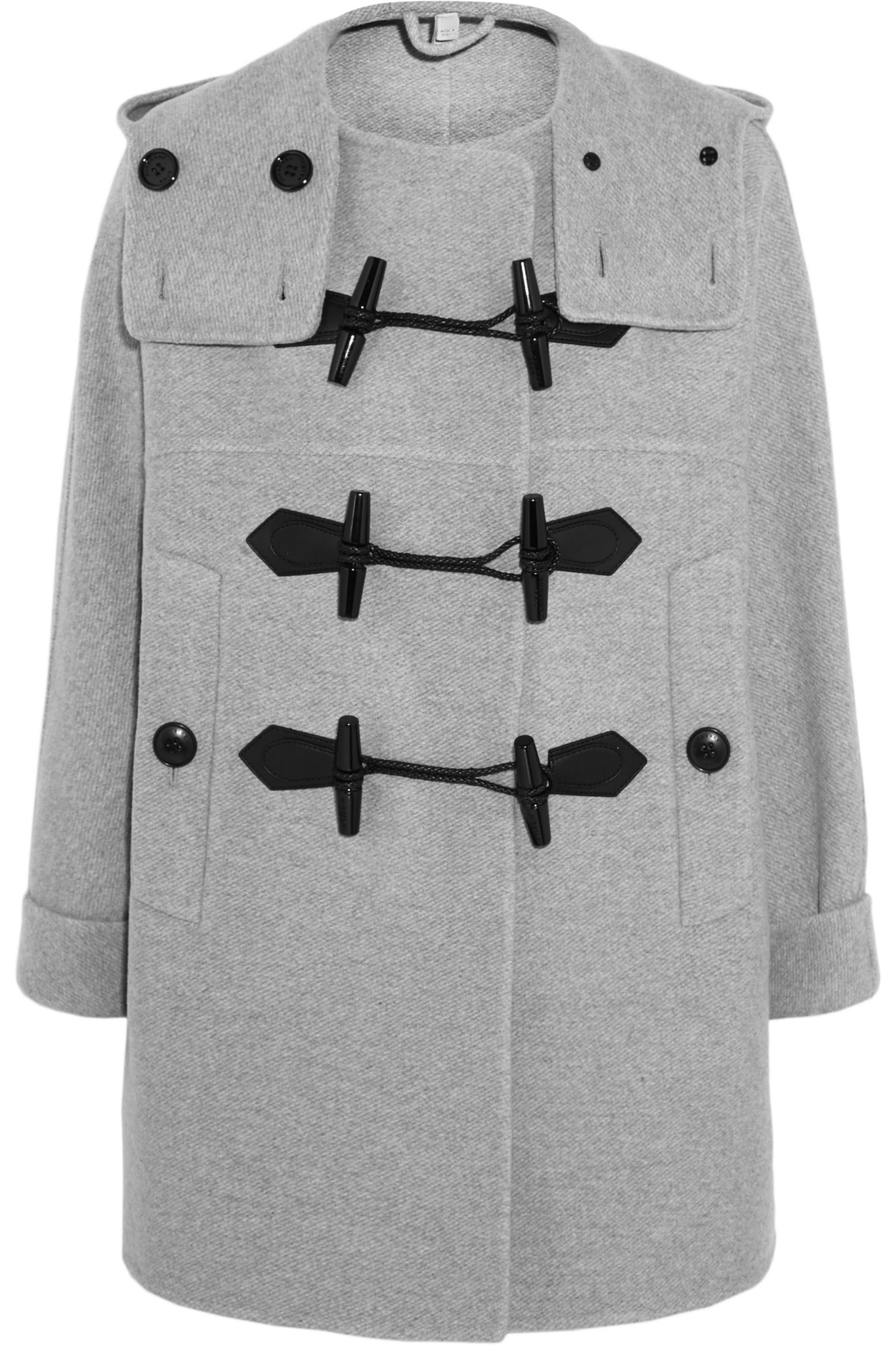 Burberry brit - Wool And Cashmere-blend Duffle Coat - Light Gray