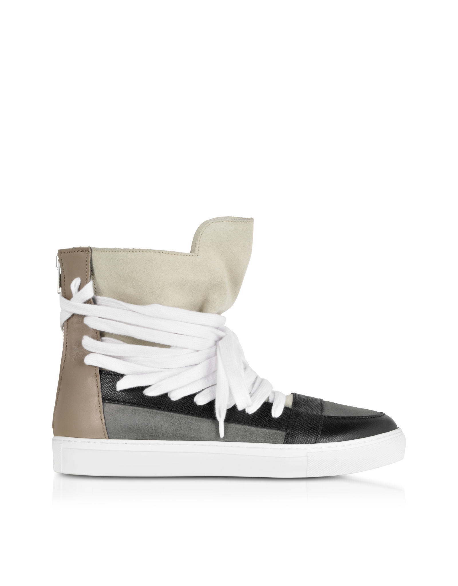 dd517a9dfc Lyst - Kris Van Assche Multi Brown Multilaces High Top Sneaker in ...