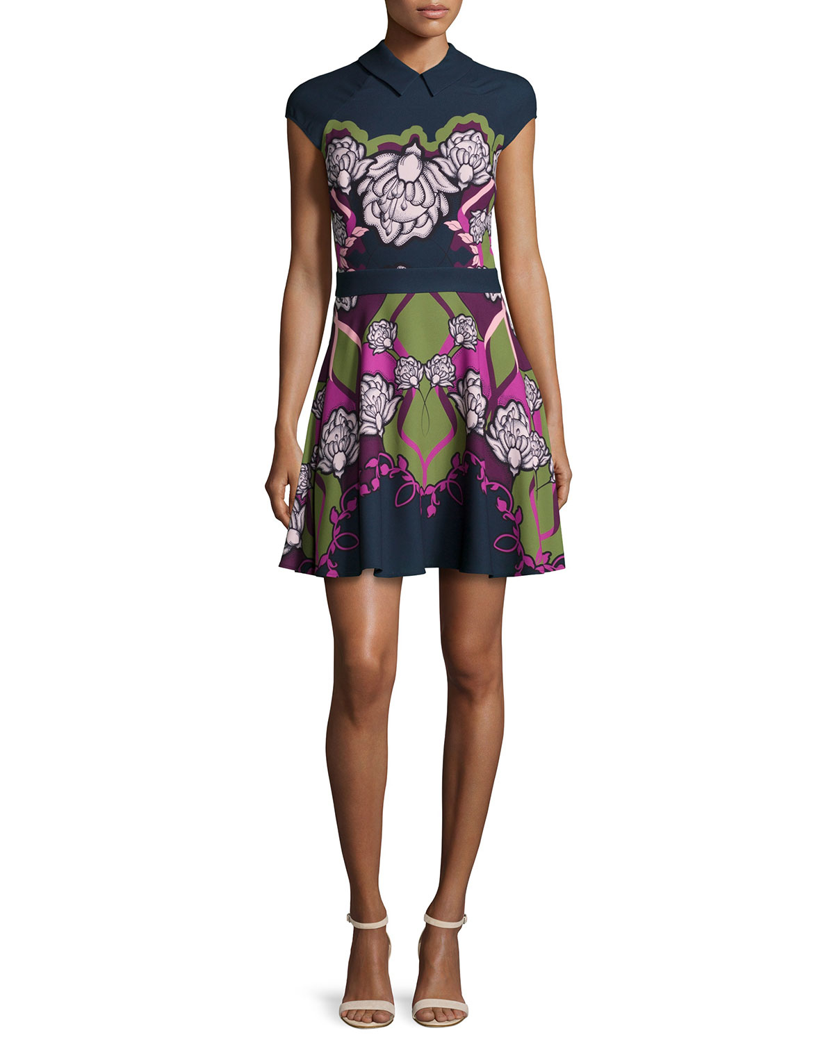 Lyst Ted Baker Daywin Surreal Fit And Flare Skater Dress
