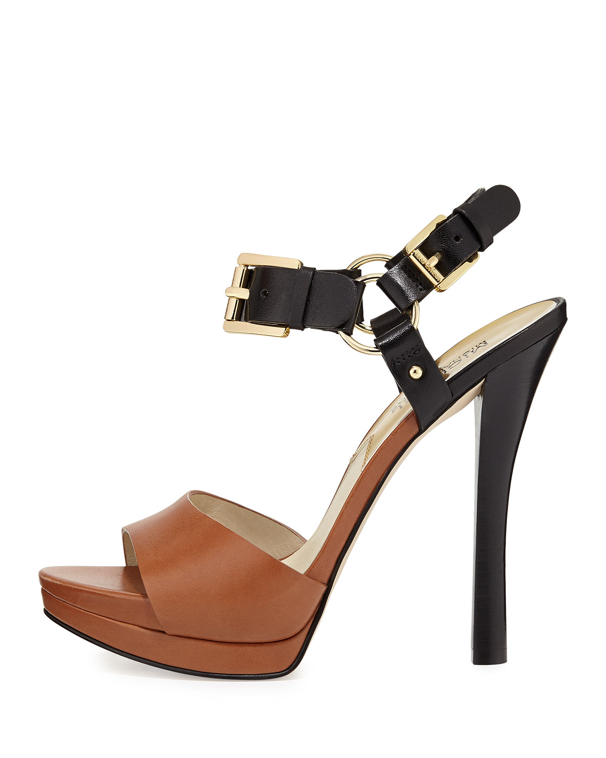 Michael michael kors Chunky Heel Sandals in Black | Lyst