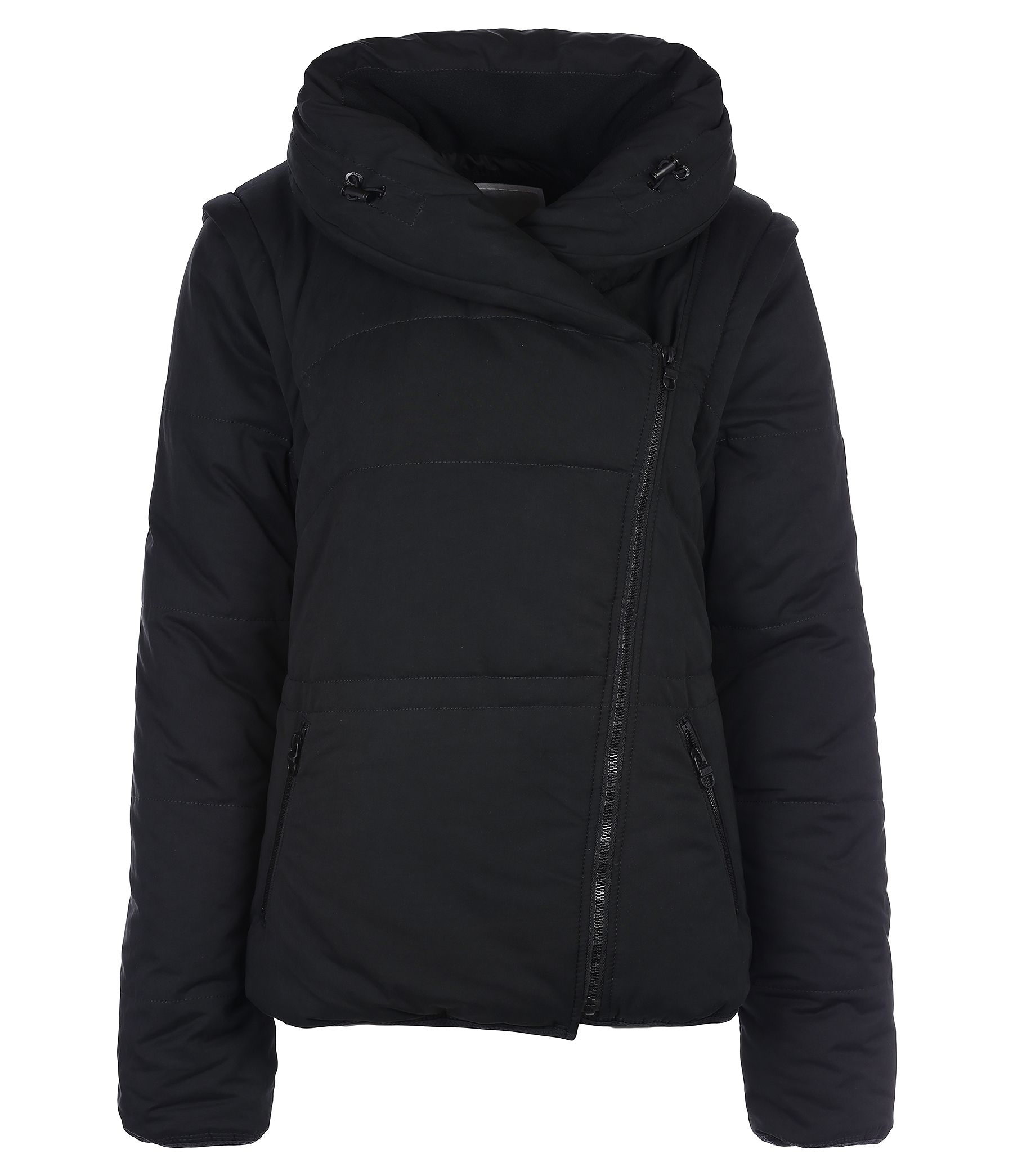 Bench Outlandish Wadded Quilted Winter Jacket In Black Lyst