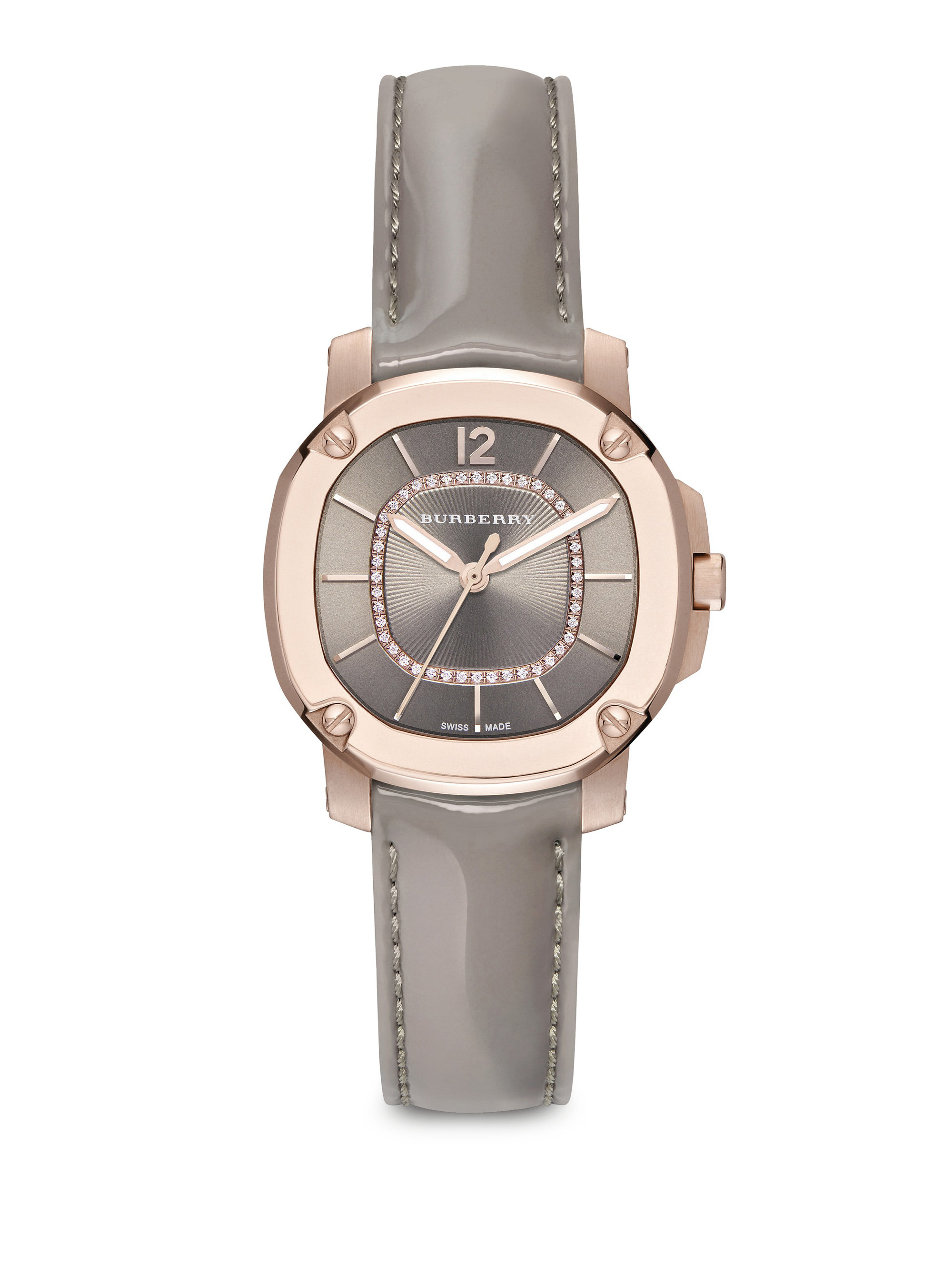 Lyst Burberry Britain Diamond 18k Rose Goldplated