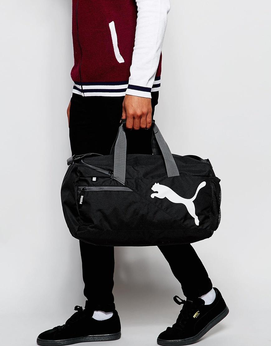 213759dd21 Puma Black Fundamental Small Sports Bag