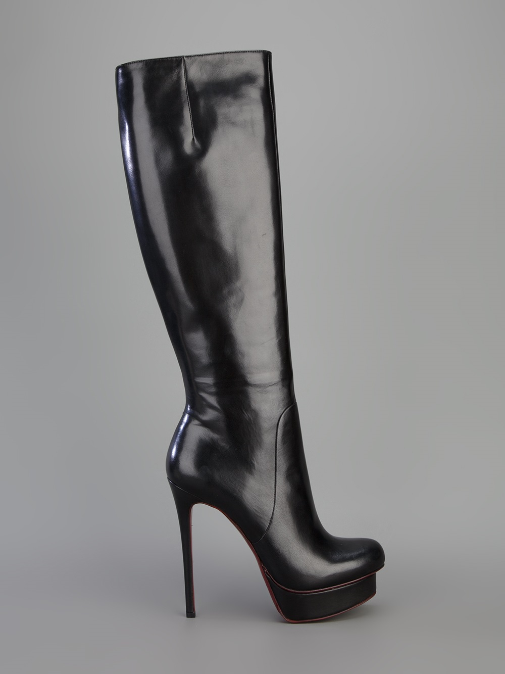 Lyst Gianmarco Lorenzi Knee High Platform Boot In Black