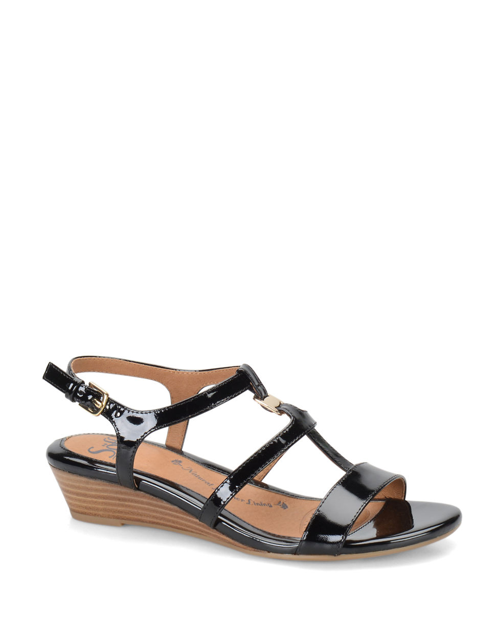 s 246 fft ilissa patent leather wedge sandals in black lyst