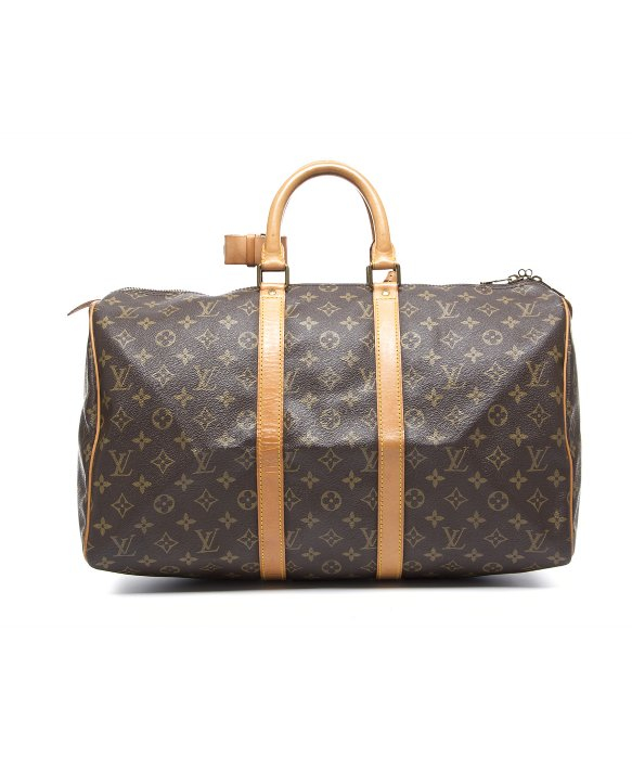 Louis Vuitton Trash Bags Gallery Louis Vuitton Pre Owned Monogram Canvas Keepall 45 Bag In Brown Lyst