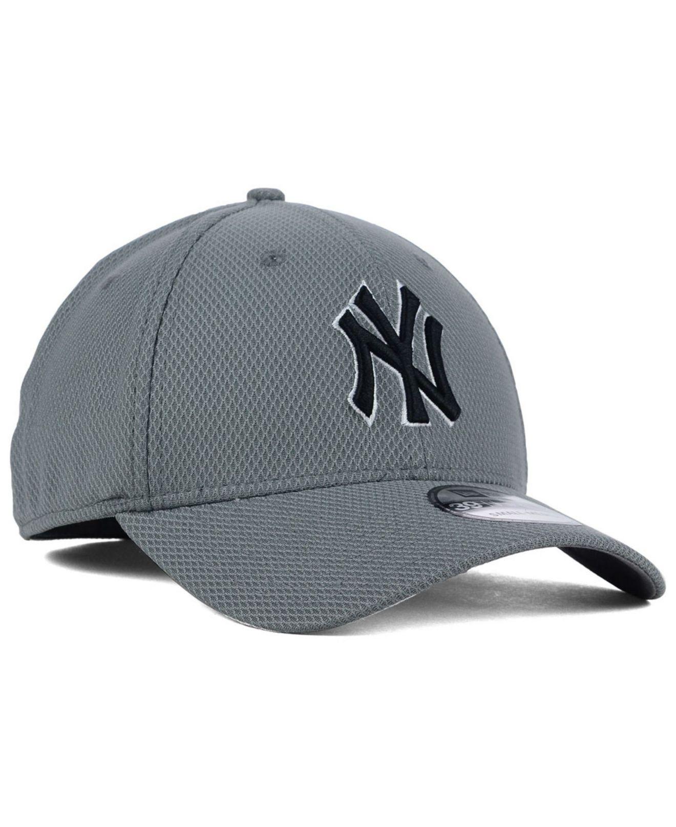 6d512af10bdc67 KTZ New York Yankees Diamond Era Gray Black White 39thirty Cap in ...
