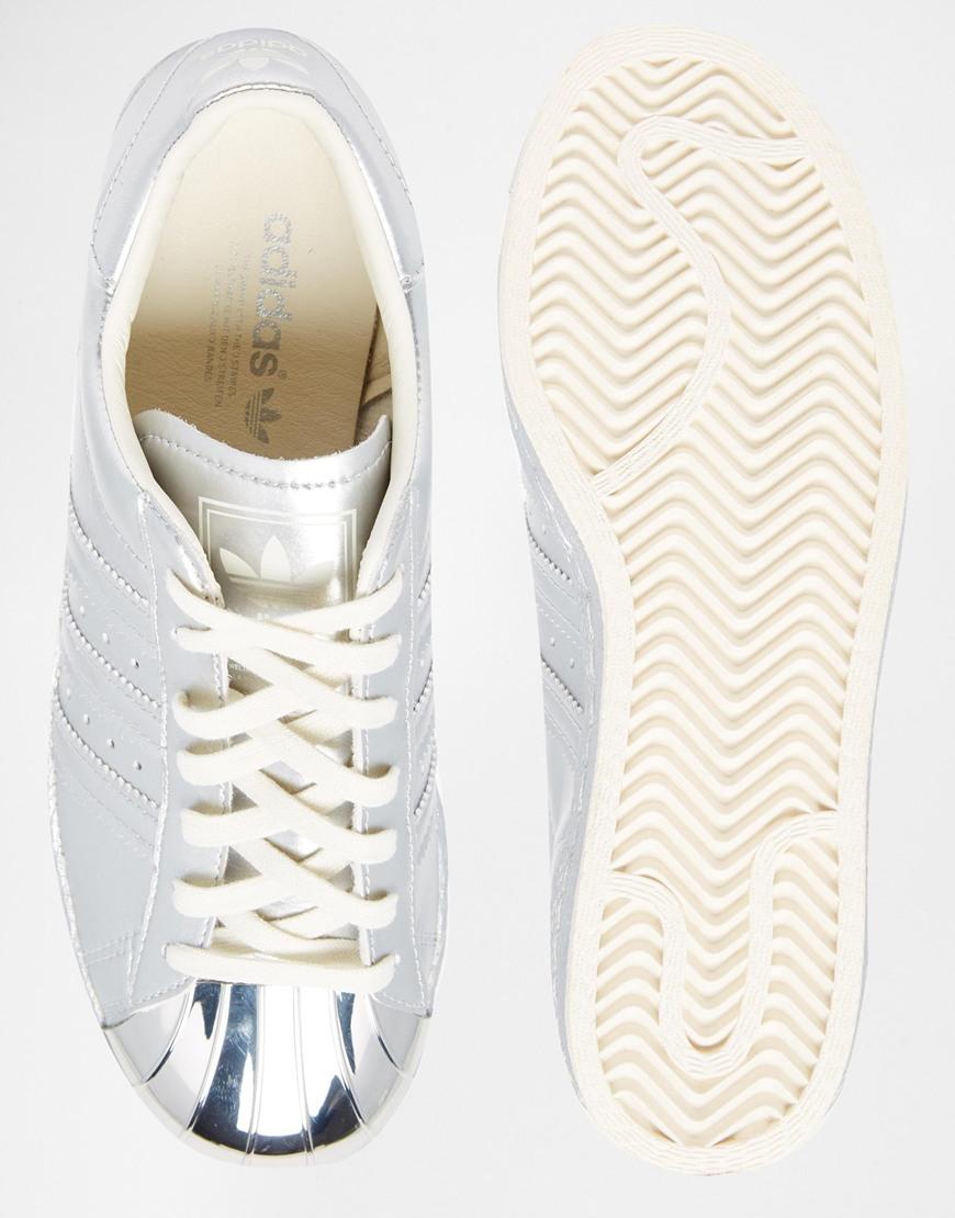 Lyst adidas superstar 80 'argento metallico originali dei formatori