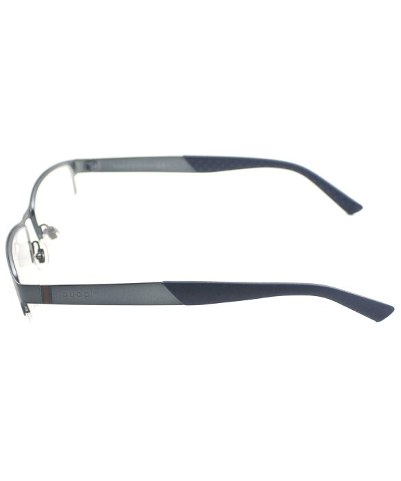Gucci Gg 2230 R0n Matte Blue Semi Rimless Metal Eyeglasses ...