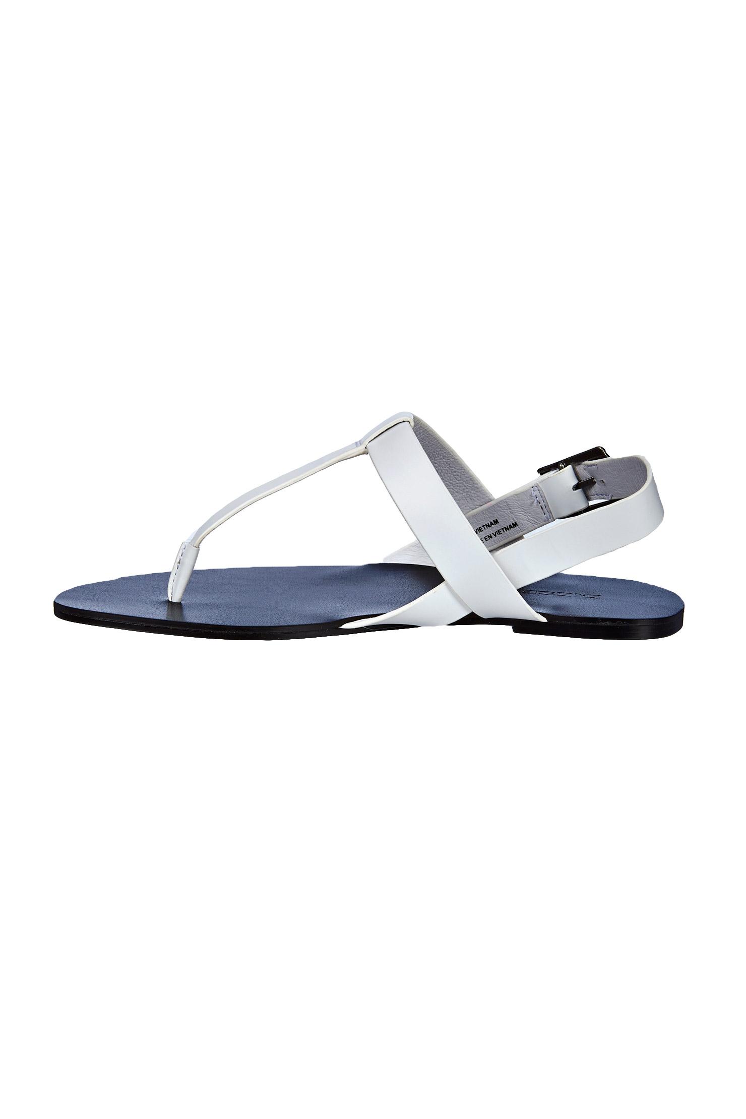 lyst diesel sandals in white