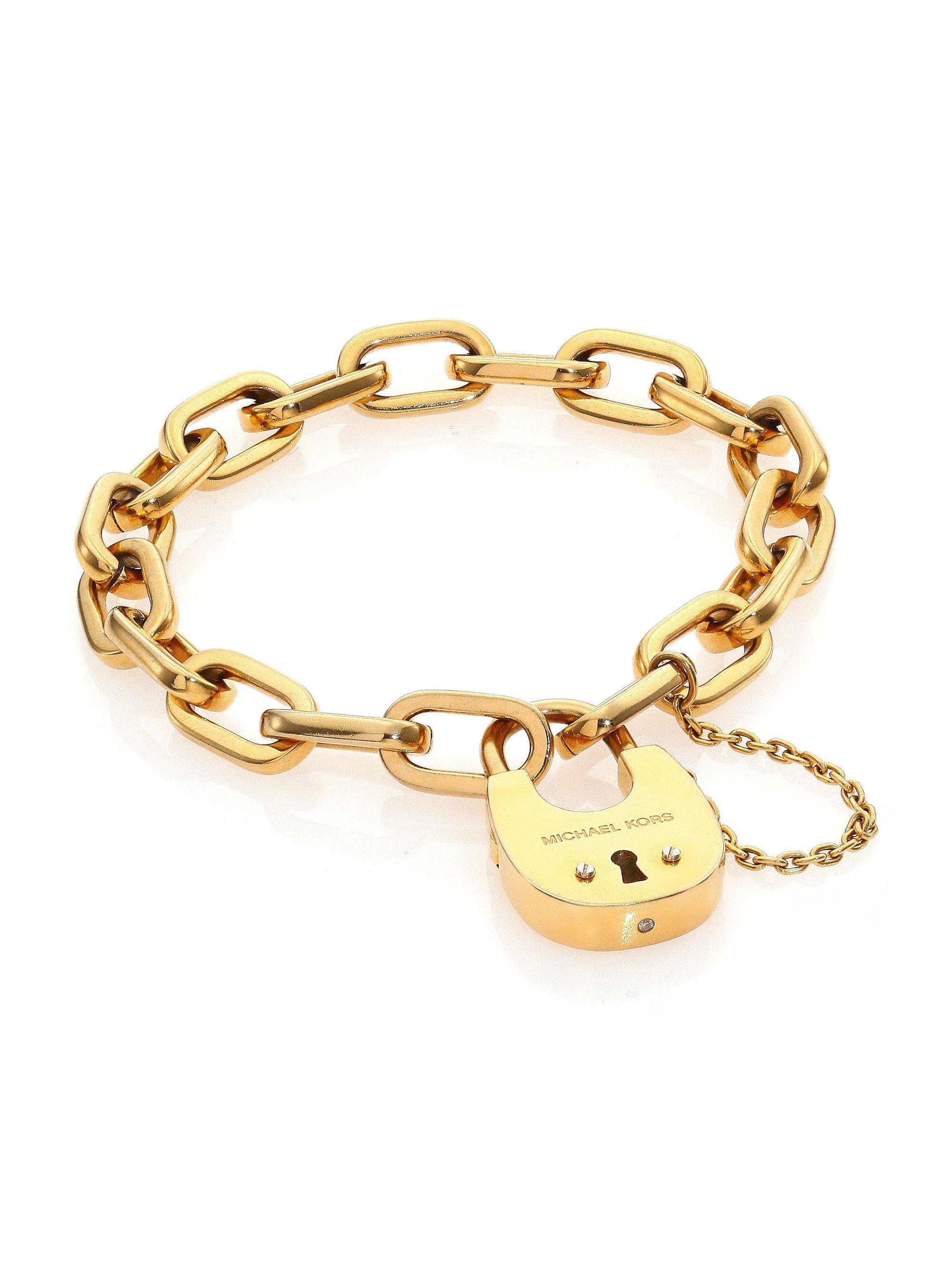 michael kors cityscape hardware padlock chain bracelet. Black Bedroom Furniture Sets. Home Design Ideas