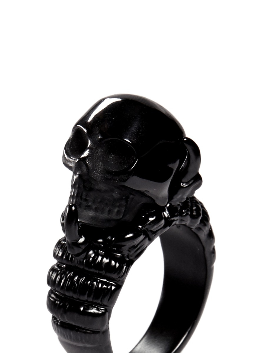 Alexander McQueen Claw And Skull Ring in Black for Men