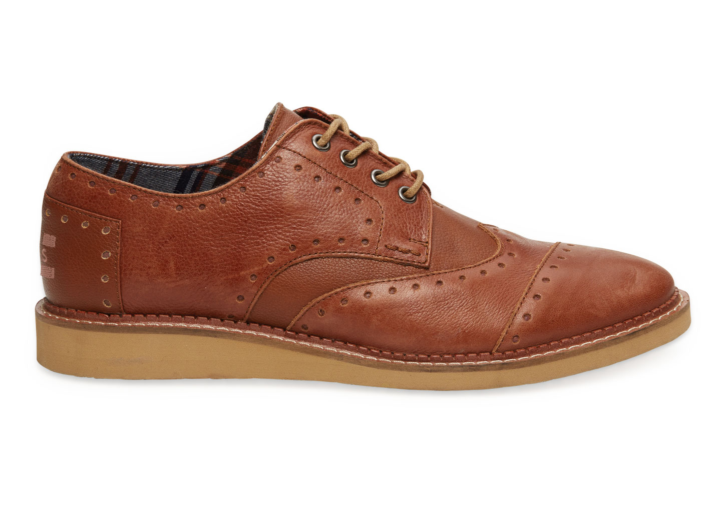 toms brown leather mens brogues in brown for men brown