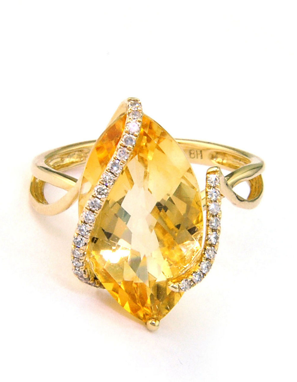 Effy 14 Kt Gold Diamond Accented Citrine Ring In Metallic. Baguette Infinity Band. Unusual Watches. 20 Ct Diamond. Unusual Jewellery. Natural Rings. Mental Health Awareness Bracelet. Fashion Jewelry Bracelet. Formal Watches