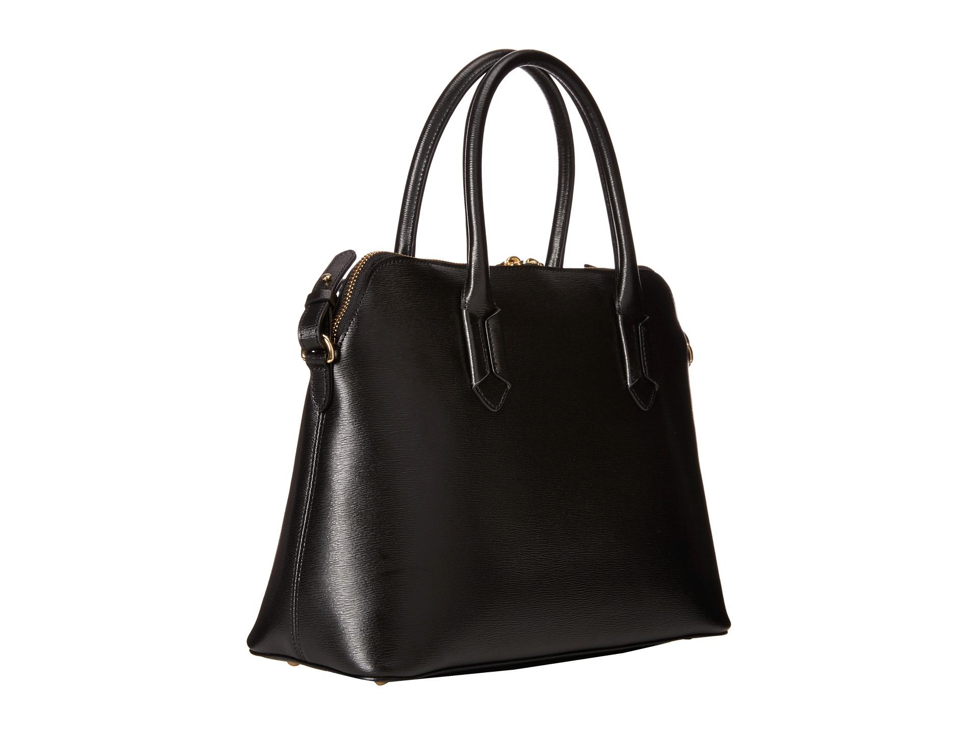 Ralph Lauren Tate Dome Satchel Laukku : Lauren by ralph tate dome satchel in black lyst