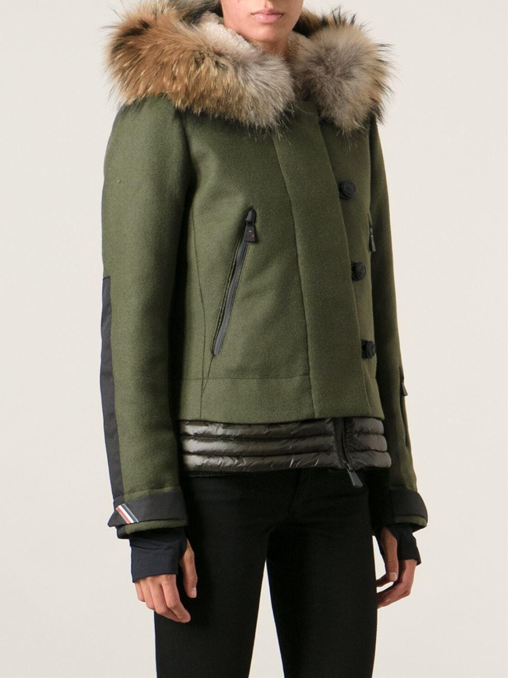 moncler green ski jacket