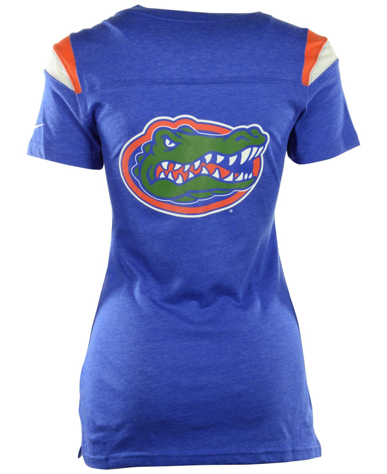 Nike Women 39 S Short Sleeve Florida Gators V Neck T Shirt In