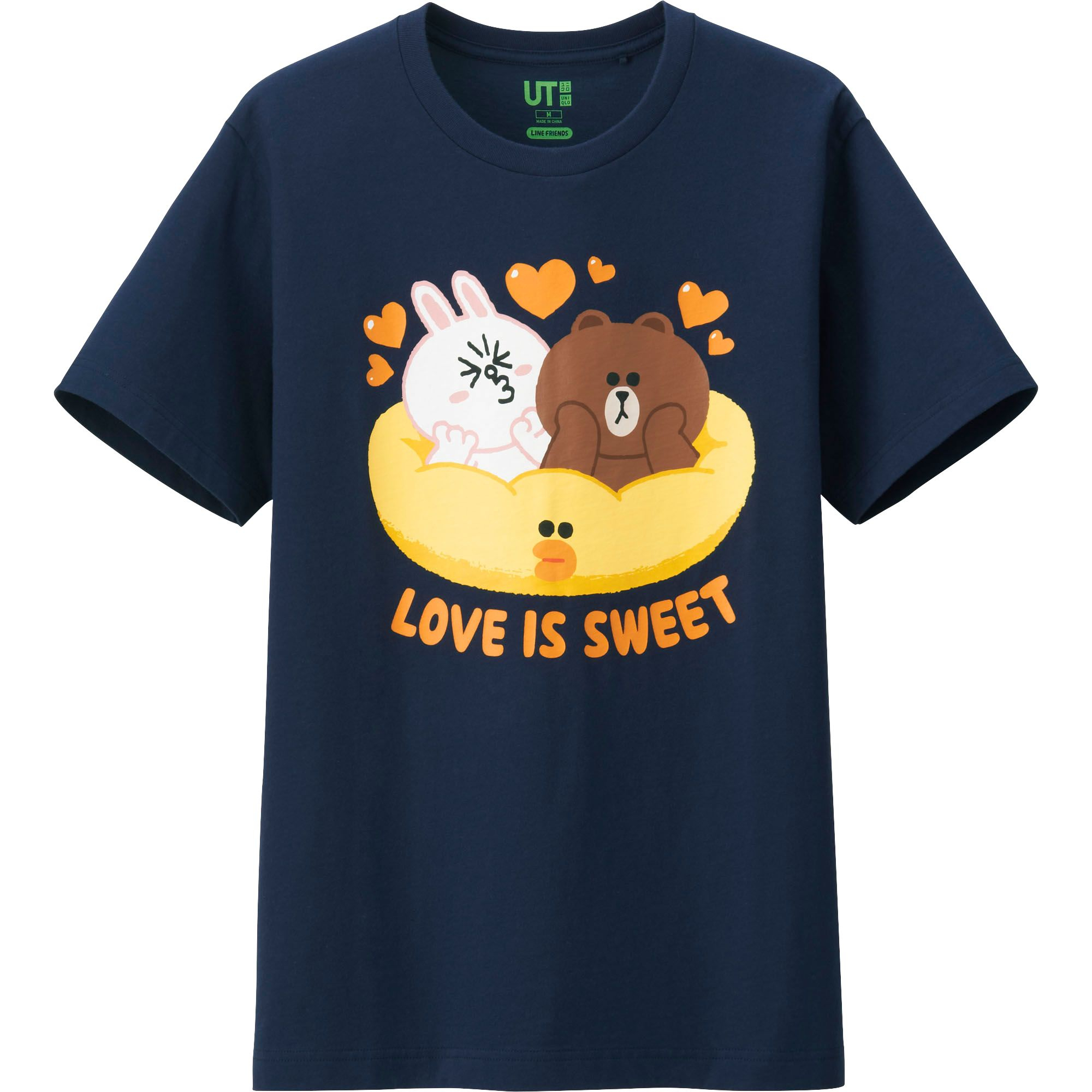 Uniqlo men line friends graphic short sleeve t shirt in for Uniqlo t shirt sizing