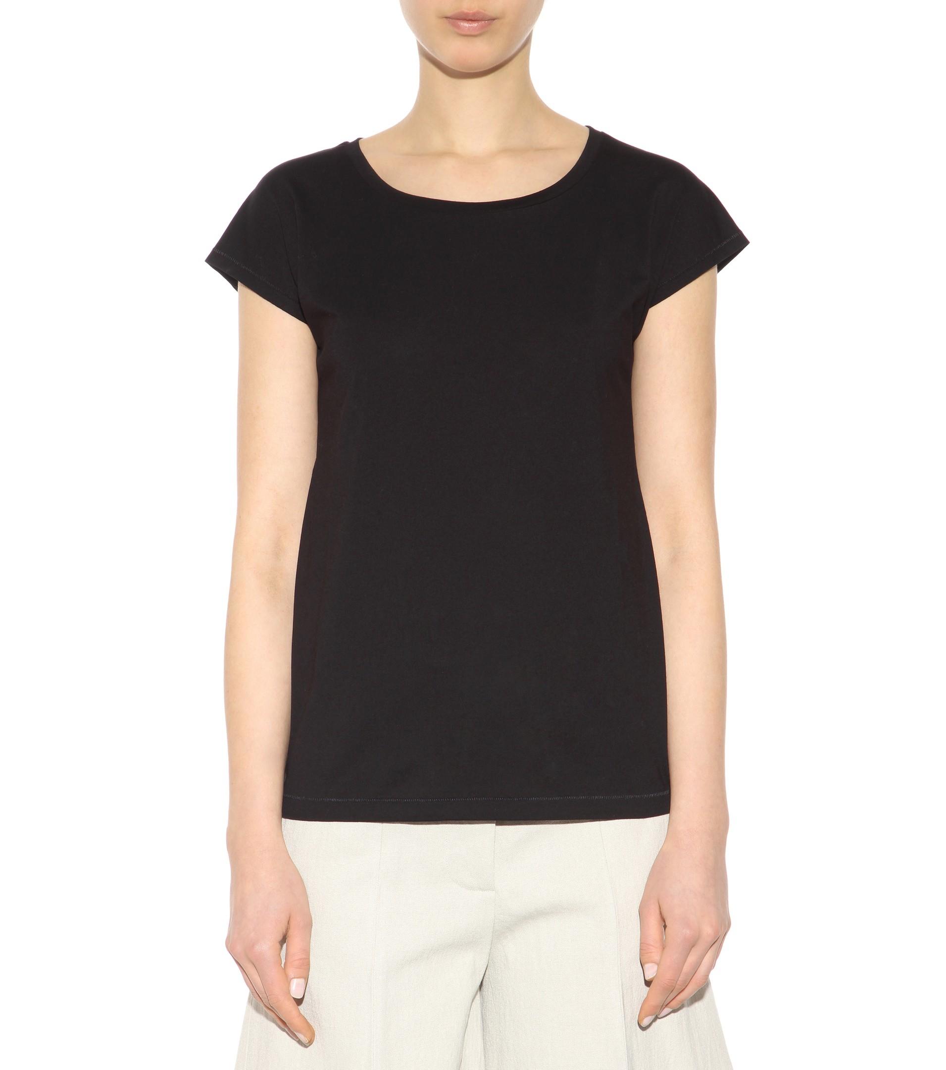 Lyst Acne Studios Narda Cotton T Shirt In Black